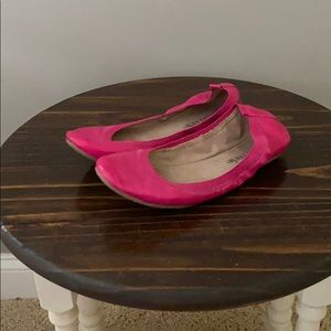 Hot Pink Stretch Flats